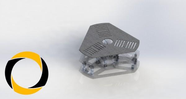 Akkuplatte aus CFK (Carbon) für Tricopter
